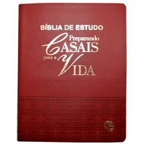 Bíblia De Estudo Preparando Casais Para A Vida [grená]