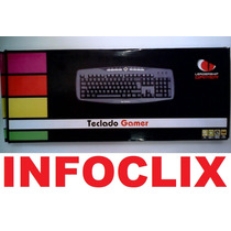 Teclado Gamer Ps2 Multimídia 0504 Leadership @