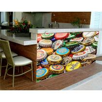 Adesivo Painel Decoração Parede Cerveja Churrasco Bar M16