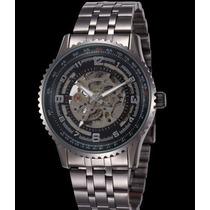 Relógio Skeleton Esqueleto Mecãnico Caixa Transparente