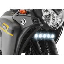 Farol Moto Luz Led Milha Auxiliar Drl Yamaha Tenere 250
