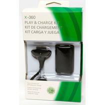 Bateria E Carregador Para Controle De Xbox 360