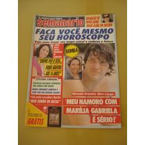 Revista Semanário Marília Gabriela Arlete Salles Ano 1989