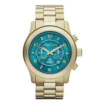 Relógio Michael Kors Mk8315 Dourado Turquesa 100% Original
