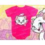 Body Gata Marie Infantil Bebê Baby Kids Personagem Pink