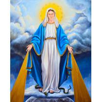 Quadro Nossa Senhora Das Graças Arte Sacra Pintura 50x70cm