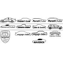 Adesivo Clube Carro Gol Corsa Palio Fusca Uno Golf + Brinde