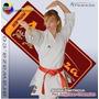 Kimono Karate Kata Arawaza Amber Evolution Wkf Lona Grossa