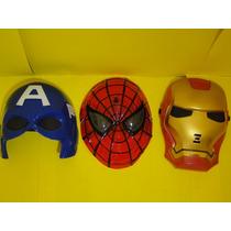 Conjunto 03 Mascara Homem Ferro Capitão America Homem Aranha
