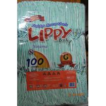 Fralda Noturna Infantil Lippy Baby G - Fardo Com 100 Unid