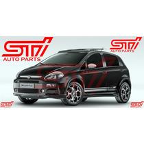 Moldura Saia Spoiler Lateral Fiat Punto Tjet 13-15