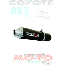 Escape Ponteira Coyote Rs1 Alumínio Cg 125 Fan 09/.. Preto H