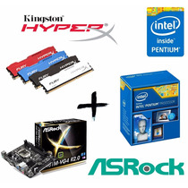 Kit Proc G3250 + Asrock H81m + Mem 4gb Kingston Hyperx