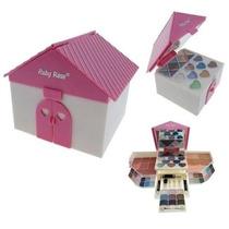 Kit Casinha De Maquiagem Infantil Ruby Rose+ Brinde Surpresa