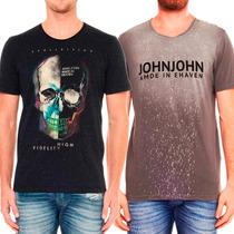Camiseta John John, Sergio K, Calvin Klein, Osklen, Armani