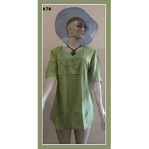 Bata Bordada Blusinha Camisa Saída Praia Gg Exg Plus Size