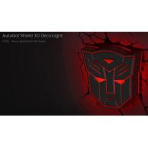 Luminária 3d Light Fx Transformers Escudo Autobot 4051