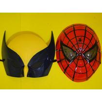 Conjunto 02 Mascara Volverine & Homem Aranha