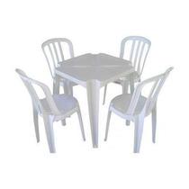 Conjunto De Mesas E Cadeiras De Plástico Goiania 120kg