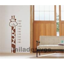 Adesivo Decorativo De Parede Quarto Infantil Régua Girafa