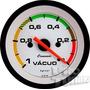 Vacuômetro Combustivel 52mm Street Branco Faixa Led Cronomac