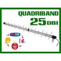 Antena Para Celular Rural 3g Quadriband 25dbi De Ganho