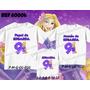 Kit Camisetas Personalizadas Aniversário Rapunzel Princesas