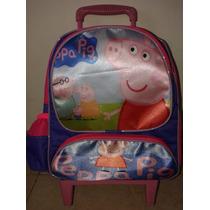 Mochila Escolar Infantil Rodinhas Peppa Pig -pronta Entrega