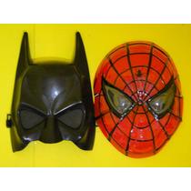 Conjunto 02 Mascara Batman E Homem Aranha