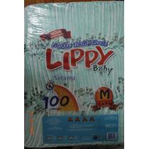 Fralda Noturna Infantil Lippy Baby M - Fardo Com 100 Unid