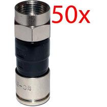 Conector Rg6 Compressão Pacote Com 50 Peças