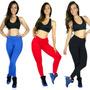 Calça Legging Suplex Grosso Lisa Ginástica Fitness Academia