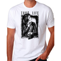 Camiseta Thug Life Day Of The Dead Caveira Mexicana