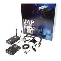 Microfone Uwp V1 De Lapela Sem Fio Para Dslr/filmadora-sony