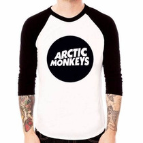 Camiseta Raglan 3/4 Arctic Monkeys - Círculo