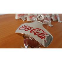 Abridor Garrafa De Parede Metal Coca-cola Cromado