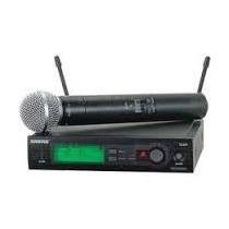 Microfone Sem Fio Shure Slx4br Sm58 Maleta