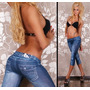 Leg Sexy Azul Denim Jeans Leggings [36]