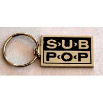 Chaveiro Oficial Importado Selo De Lp Vinil Subpop Sub Pop