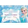 Convite Personalizado: Frozen, Safari, Minions, Rei, Etc
