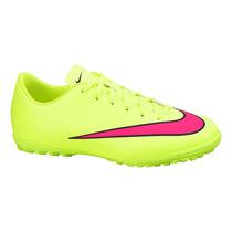 Chuteira Nike Mercurial Victory Tf Infantil Limão/rosa 2015