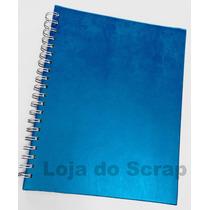 Caderno Pautado Com Agenda Semanal - Azul Turquesa - Wire-o