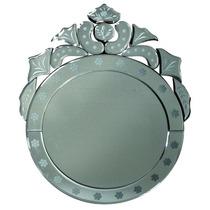 Espelho Veneziano ( 41 X 50 Cm ) Redondo Xa0060 - Btc