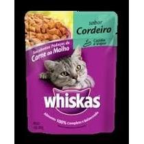 Caixa Sashe Whiskas Cordeiro Para Gatos 85grs Com 18 Unidade