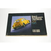 Fusca 74 1974 Motor 1300 1500 Manual Proprietário Original