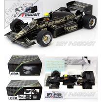 1/18 Lotus Renault 97t Ayrton Senna Primeira Vitória F1 1985