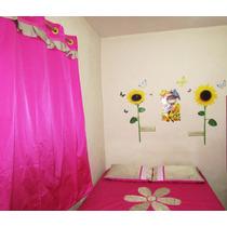 Conjunto De Cama Casal 4 Pçs Rosa Choque Flor