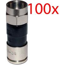 Conector Rg6 Compressão Pacote Com 100 Peças