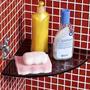 Prateleira Raque Ou Porta Shampoo De Canto De Vidro 21x21cm