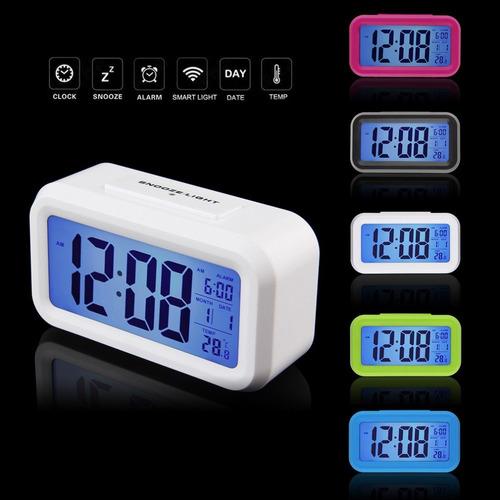 2e11d7b9da4 Relógio Digital De Mesa Parede Portatil Único Com Led E Lcd. Preço  R  59 9  Veja MercadoLibre